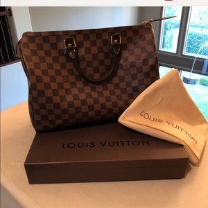 Authentic LV speedy 35 Damier ebene